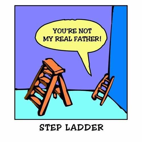 step father,step ladder
