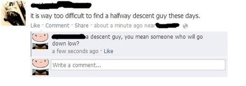 down low decent guys spelling matters descent - 7186161408
