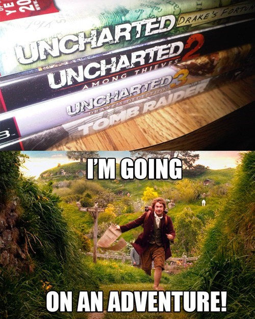 uncharted,The Hobbit,Tomb Raider,video games