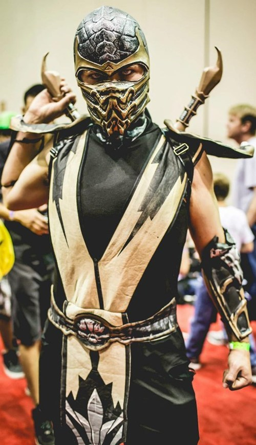 cosplay Mortal Kombat video games scorpion