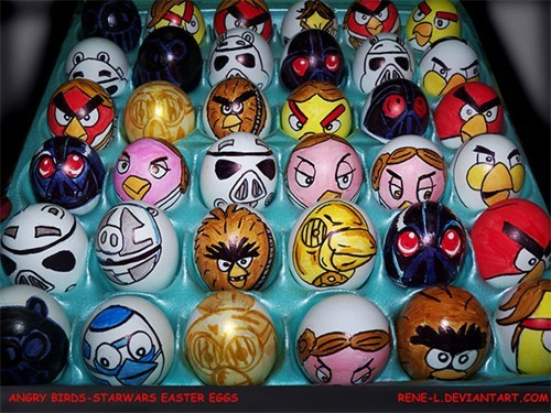 easter angry birds star wars eggs nerdgasm