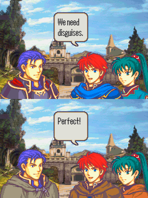 fire emblem,disguises,video games,video game logic