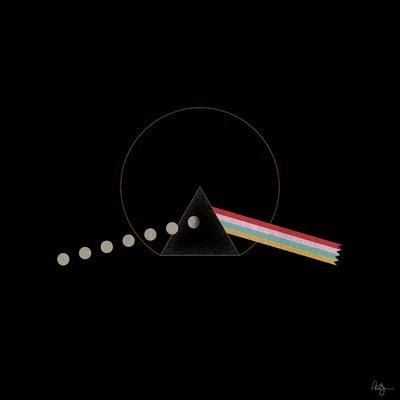 art retro pacman Dark Side of the Moon pink floyd video games