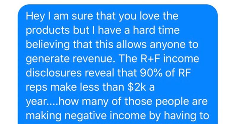 pyramid scheme scammer getting schooled
