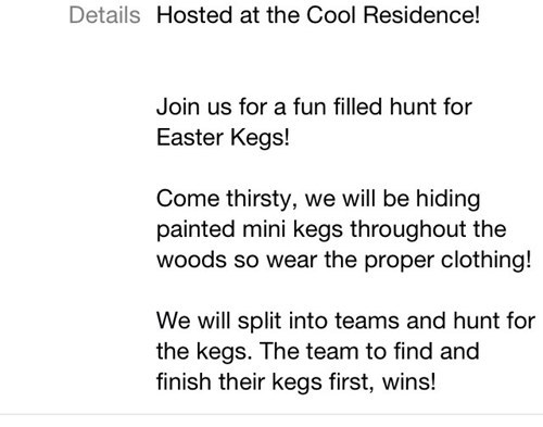 easter,alcohol,kegs,adult easter,after 12
