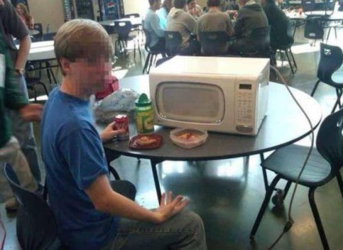 i do what i want cafeteria microwave