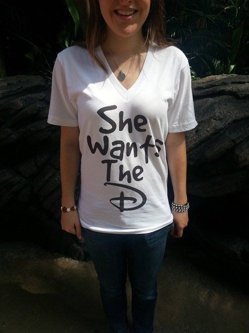 fashion disney THE D shirt - 7187516672