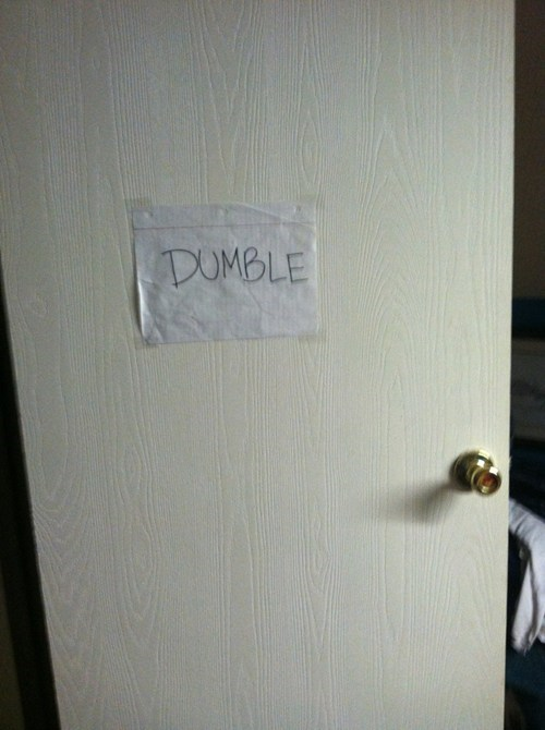 door Harry Potter dumbledore nerdgasm - 7187552512
