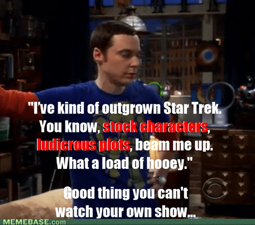 big bang theory TV Star Trek - 7187704832