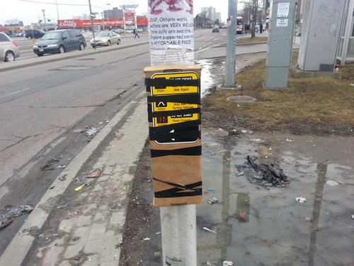 walk signals wood tape there I fixed it