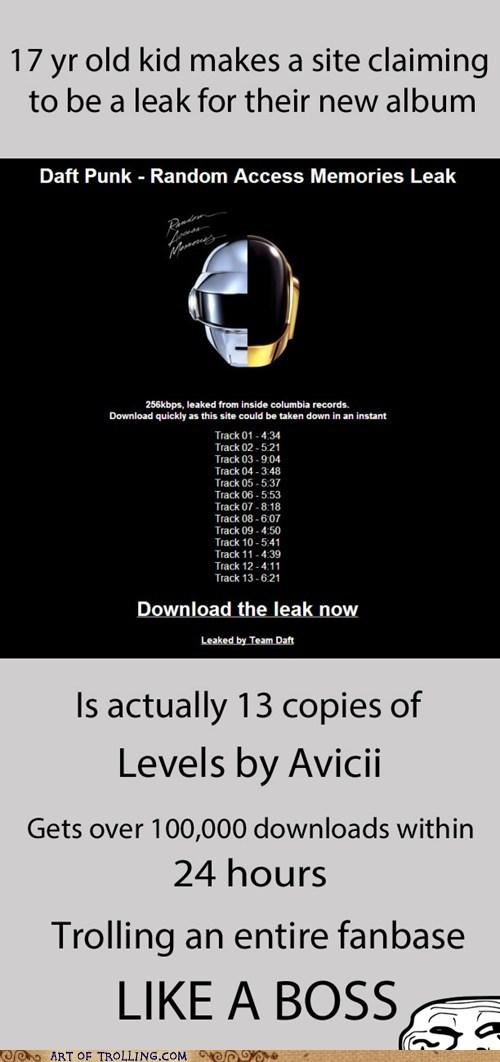 levels random access memories avicii daft punk pirating music - 7188099840