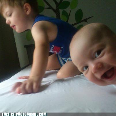 Babies first photobomb kids - 7188568576
