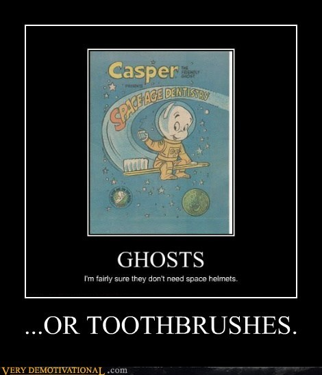 ghost,casper,toothbrush