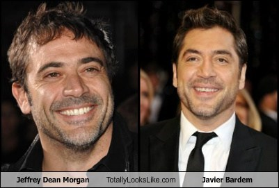 jeffrey dean moragn,javier bardem,totally looks like