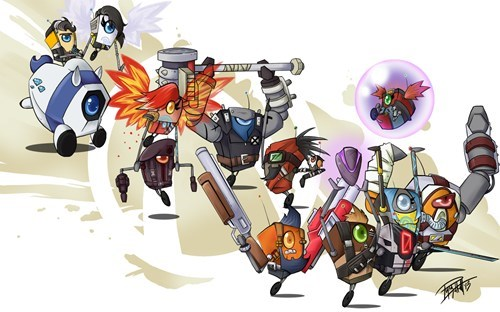 borderlands Fan Art claptrap video games - 7192524032