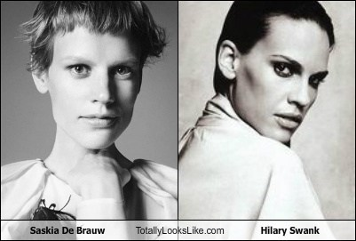 Saskia De Brauw Totally Looks Like Hilary Swank