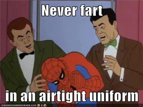 Spider-Man airtight breathing fart - 7193887232