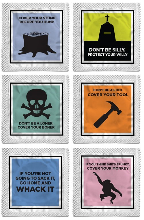 design puns rhymes condom funny protection - 7193951232