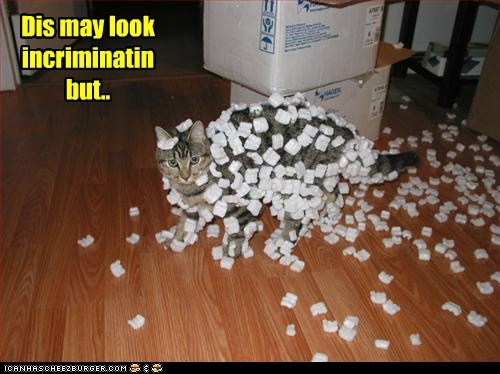 incriminating,packing peanuts
