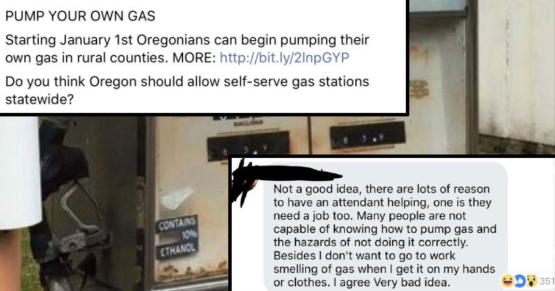 oregon self pumping gas stations