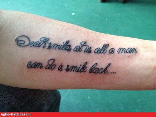 arm tattoos expressions text tattoos