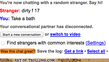 Omegle,bath,dirty,take a bath