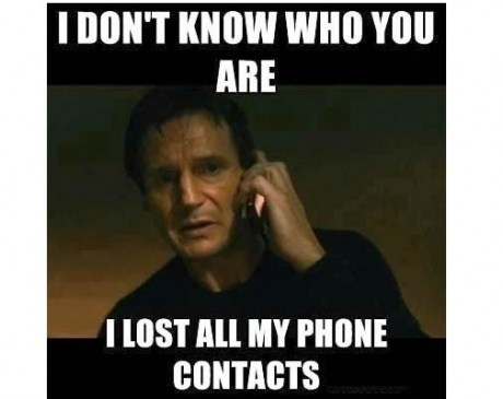 taken,liam neeson,lost contacts