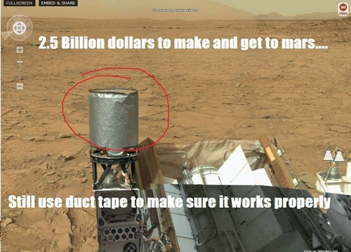 nasa curiosity rover duct tape g rated there I fixed it - 7197118720