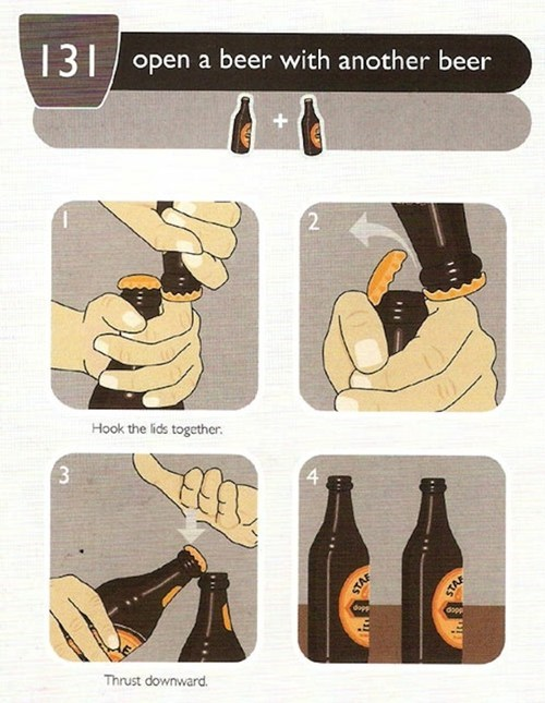 beer,bottle opener,life hacks