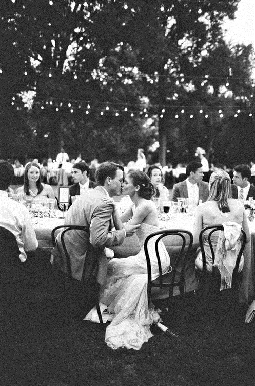 kisses black and white receptions