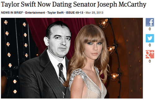 taylor swift,only a matter of time,joseph mccarthy