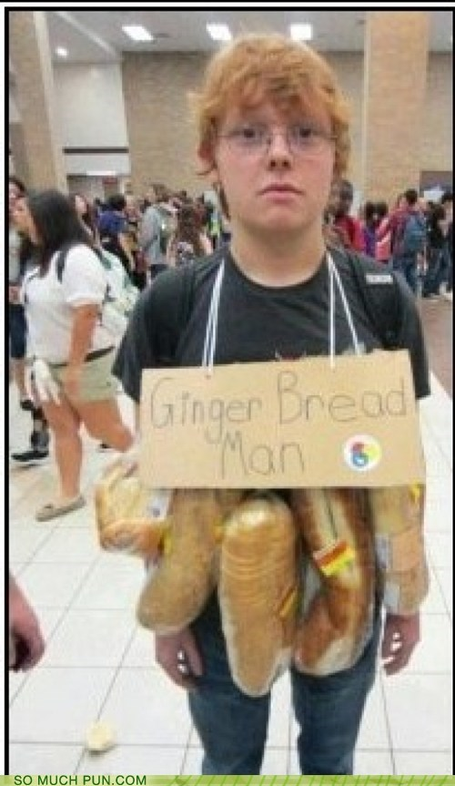 ginger,costume,bread