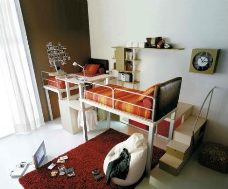 dorm room furniture bunk bed design - 7198396416