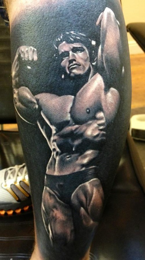 arm tattoos Arnold Schwarzenegger muscles - 7198419200