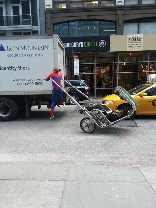 Spider-Man nerdgasm taxi superheroes BAMF - 7198460928