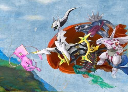 mew Pokémon art legendaries - 7198508288