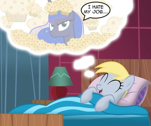 art derpy hooves dreams muffins luna - 7198609920