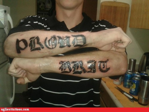 arm tattoos,British,text tattoos