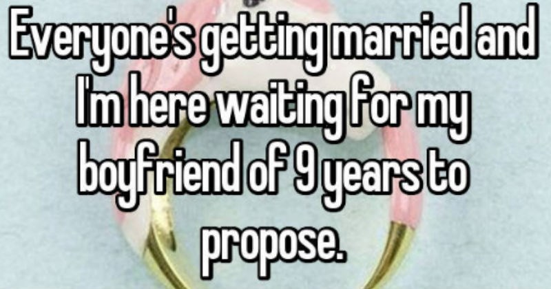 waiting to be proposed