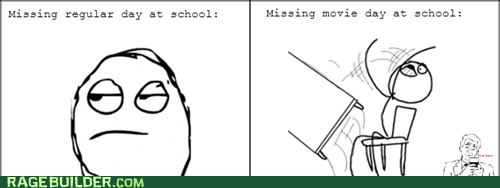 movie day,school,table flip