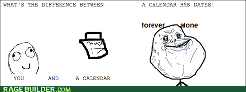 The difference between you and a calendar