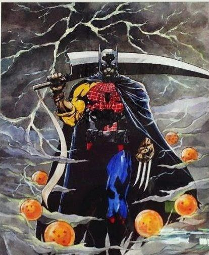 wtf batman Spider-Man wolverine superheros - 7205667328