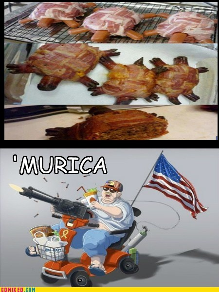 guns,pride,america,food,bacon