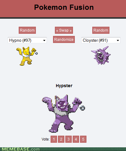 hipsters pokemon fusion - 7206476032
