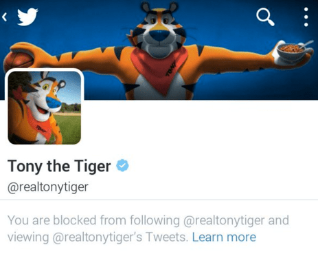 twitter,tony the tiger,list,chester cheetah,cheetos,frosted flakes