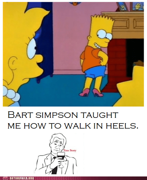 heels bart simpson How To the simpsons - 7210938880