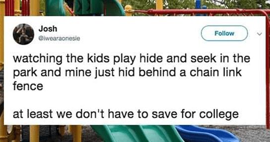 Funny parenting tweets.