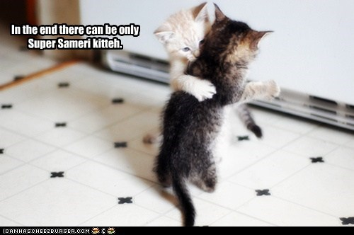 In the end there can be only Super Sameri kitteh.