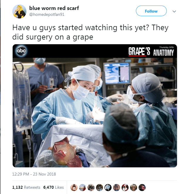 memes about they did surgery on a grape
