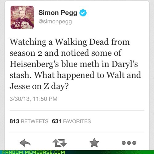 twitter breaking bad Simon Pegg The Walking Dead